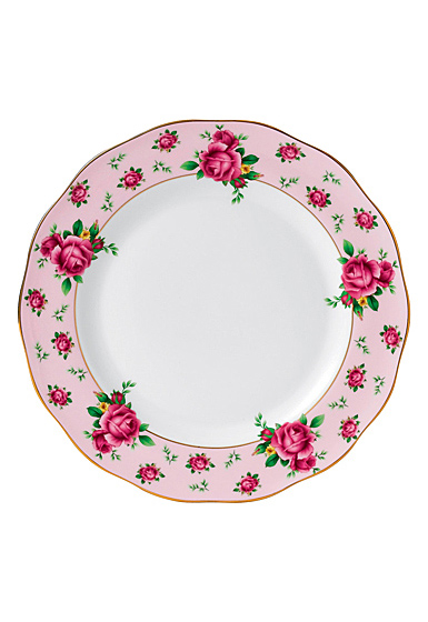 """Royal Albert New Country Roses Pink Dinner Plate 10.5"""""""