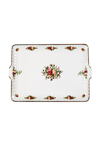 """Royal Albert Old Country Roses Fluted Serving Tray 12.5"""""""
