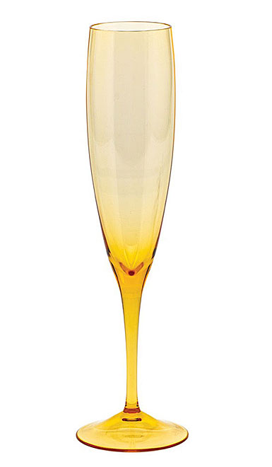 Moser Optic Champagne Flute Topaz, Single