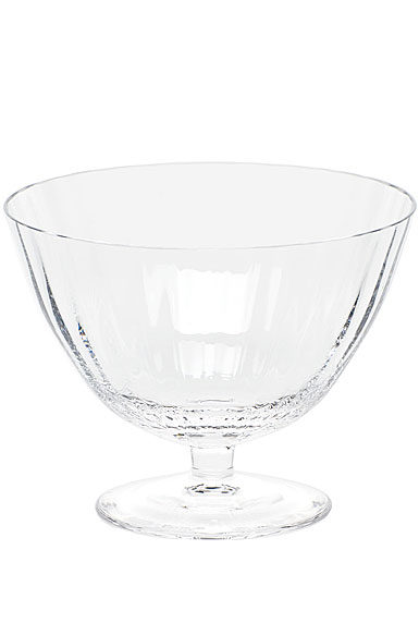 "Moser Crystal Optic Footed Bowl 5.1"" Clear"