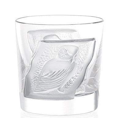 Lalique Crystal, Owl Crystal Cordial Tumbler, Single
