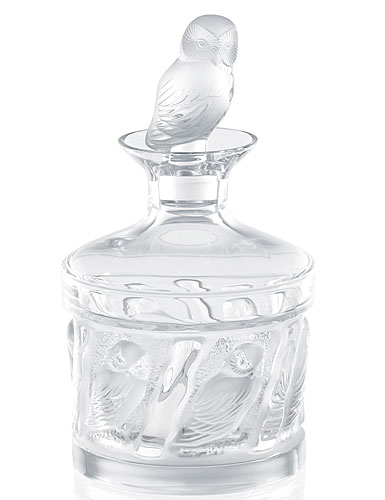 Lalique Crystal, Owl Crystal Decanter