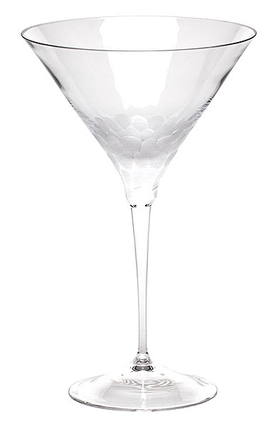 Moser Crystal Pebbles Martini Glass, Clear, Single
