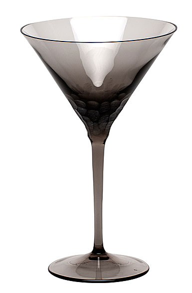 Moser Crystal Pebbles Martini Glass, Smoke, Single