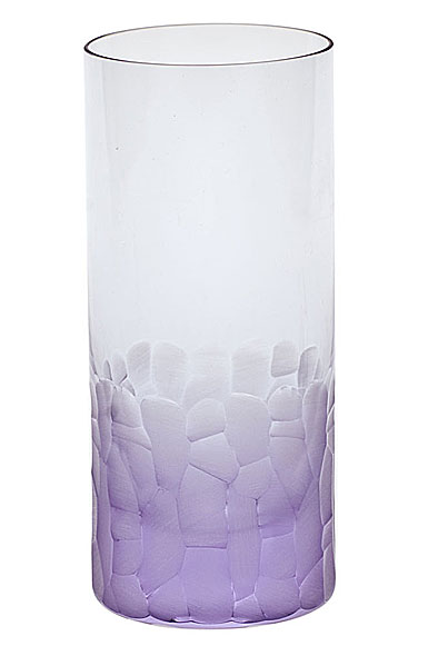 Moser Crystal Pebbles Hiball Glass, Alexandrite Purple, Single