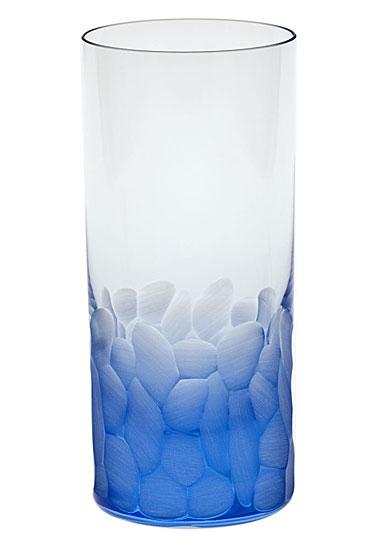Moser Crystal Pebbles Hiball Glass, Aquamarine, Single