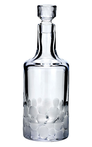 Moser Crystal Pebbles Cylinder Decanter, Clear
