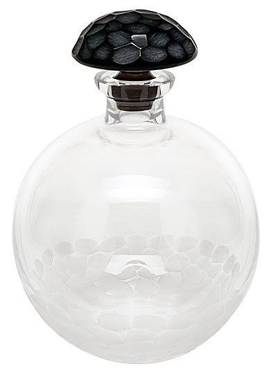 Moser Crystal Pebbles Round Decanter, Clear and Smoke