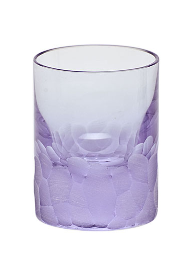 Moser Crystal Pebbles Shot Glass, Alexandrite Purple, Single