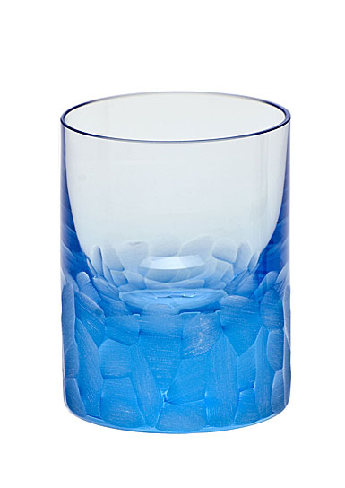 Moser Crystal Pebbles Shot Glass, Aquamarine, Single