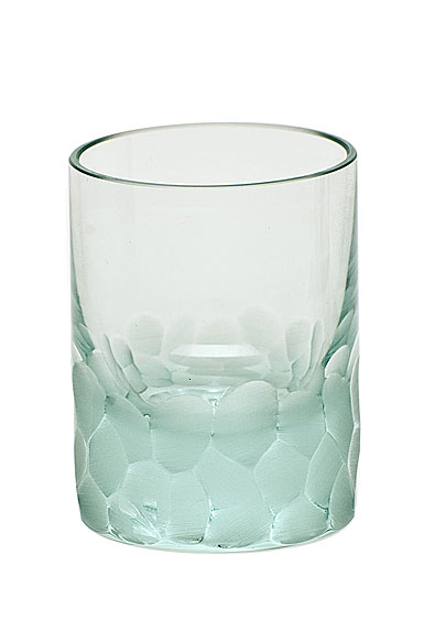 Moser Crystal Pebbles Shot Glass, Beryl Green, Single