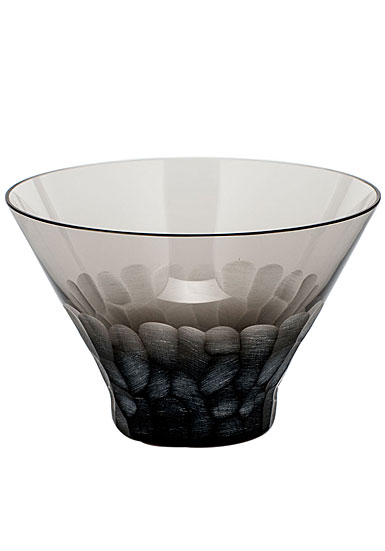 Moser Crystal Pebbles Small Bowl, Smoke
