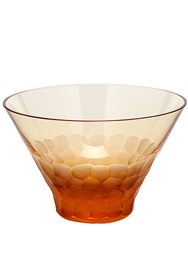 Moser Crystal Pebbles Small Bowl, Topaz