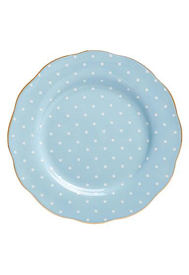 "Royal Albert Polka Blue Salad Plate 8.3"""