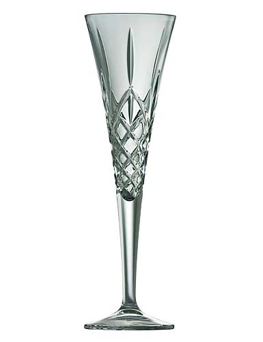Galway Crystal Longford Romance Flutes, Pair