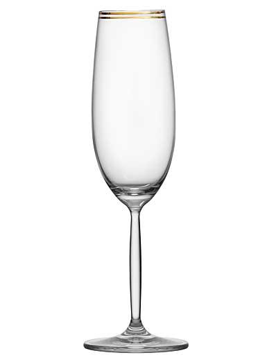 Schott Zwiesel Diva Living Champagne Flute, Gold Band, Single