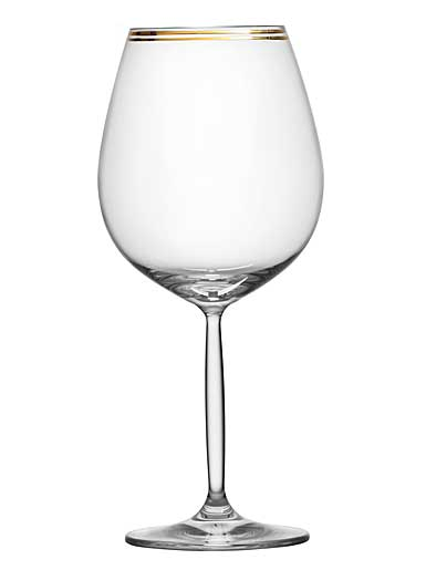 Schott Zwiesel Diva Living All Purpose Wine Glass, Gold Band, Single