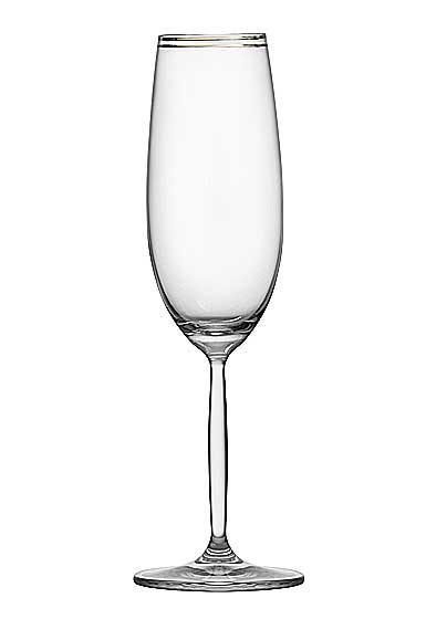 Schott Zwiesel Diva Living Champagne Flute, Platinum Band, Single