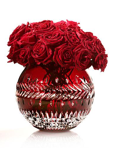 Waterford Fleurology Meg Ruby Cased Rose Bowl