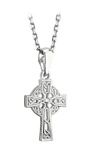 Cashs Ireland, Sterling Silver Filigree Celtic Cross Pendant