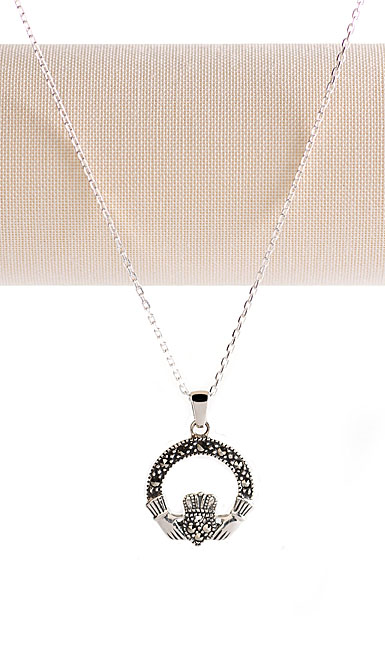 Cashs Ireland, Sterling Silver Claddagh Necklace