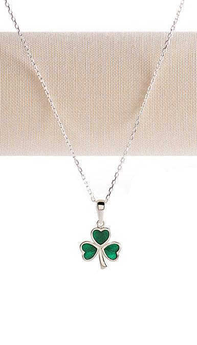 Cashs Ireland, Sterling Silver Shamrock Necklace