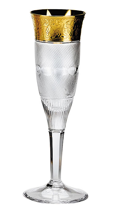 Moser Crystal Splendid Champagne Flute, Single