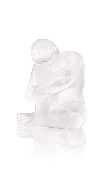 Lalique Crystal, Nude Sage Sculpture, Clear