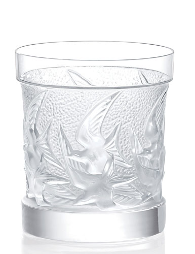 Lalique Swallows Old-Fashioned Tumbler