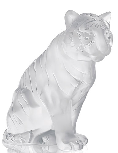 Lalique Crystal, Sitting Tiger