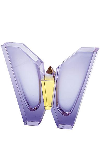 "Moser Crystal Air Vase 9.8"" Alexandrite and Eldor"