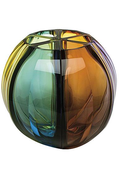 "Moser Crystal Ball Vase 11.8"" Multicolor"