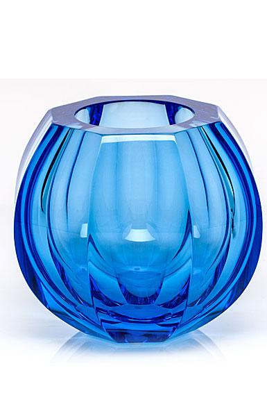 "Moser Crystal Beauty 5.9"" Vase, Aquamarine"