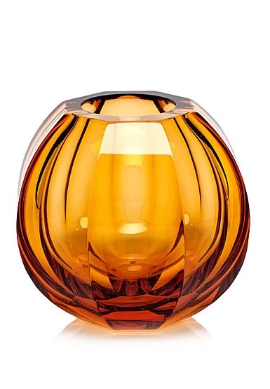 "Moser Crystal Beauty 5.9"" Vase, Topaz"