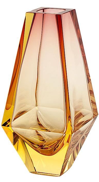 """Moser Crystal City Vase 9.8"""" Eldor and Rose"""