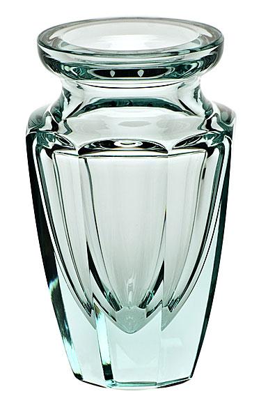 "Moser Crystal Eternity Bud Vase 4.5"" Beryl"