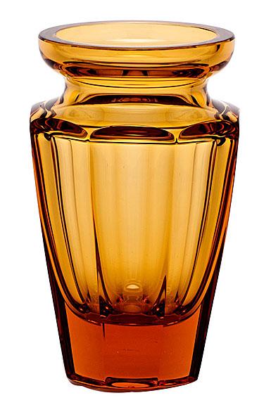 """Moser Crystal Eternity Vase 5.9"""" Topaz"""