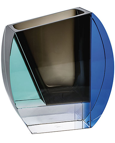 """Moser Crystal Mondrian Vase 10.4"""" Multicolor"""