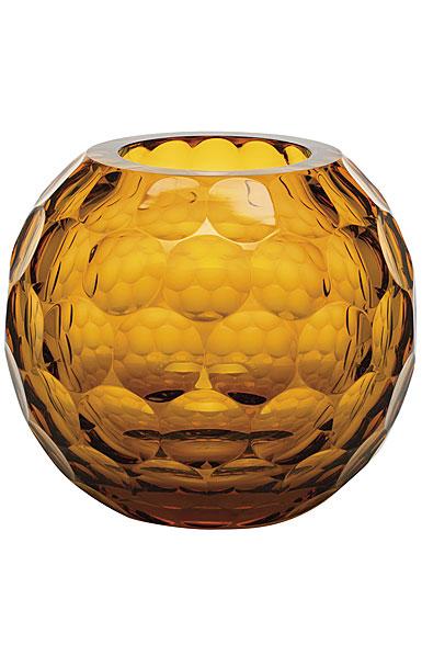 "Moser Crystal Planet Moser Vase 9.3"" Lenses - Topaz"