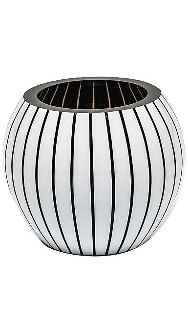 "Moser Crystal Stratis Vase 7"" Vertical - Smoke and White"