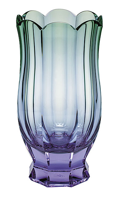 "Moser Crystal Sirael Vase 13.8"" Alexandrite and Green"