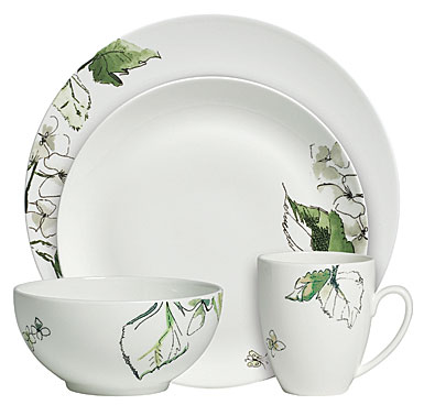 Vera Wang Floral Leaf 4-Piece Place Setting