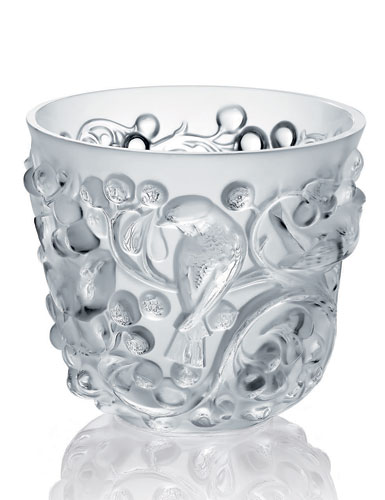 Lalique Crystal, Avallon Crystal Vase