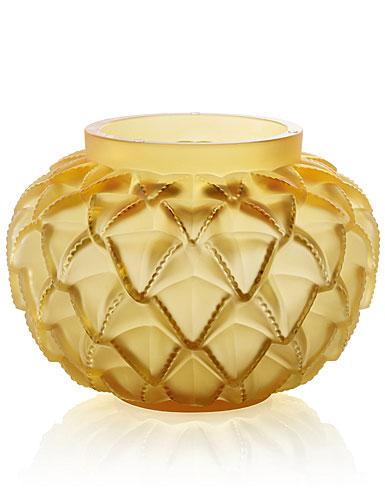 Lalique Amber Languedoc Vase