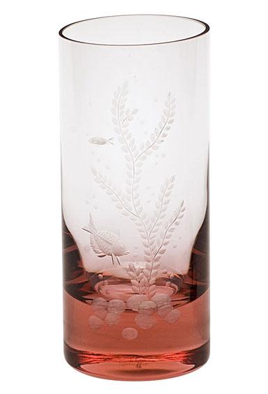 Moser Crystal Whisky Hiball 13.5 Oz. Ocean Life #4 - Rosalin