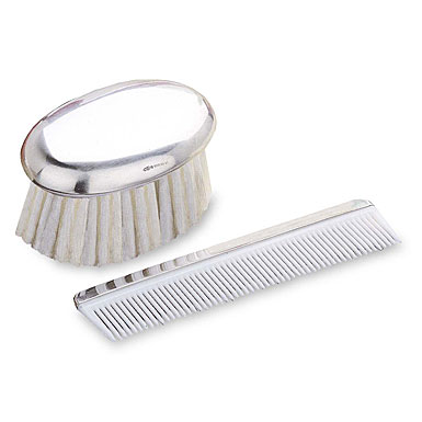 Reed & Barton Sterling Boy's Comb and Brush Set