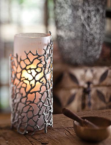 Donna Karan Lenox Abstract Coral, Hurricane/Vase