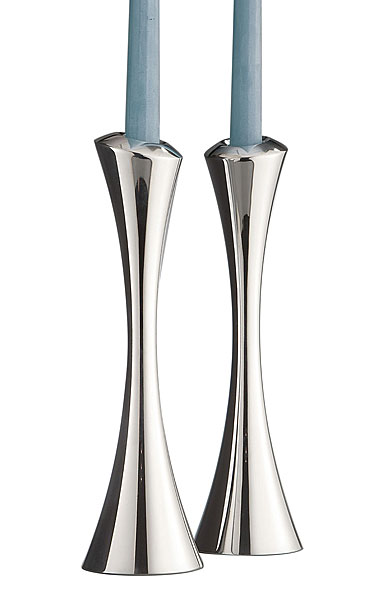 Nambe Metal Aquila Candlesticks, Pair
