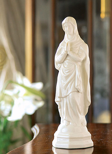 Belleek Blessed Virgin Mary Figure