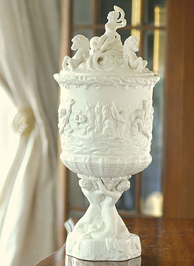 Belleek Prince of Wales Icepail Figure